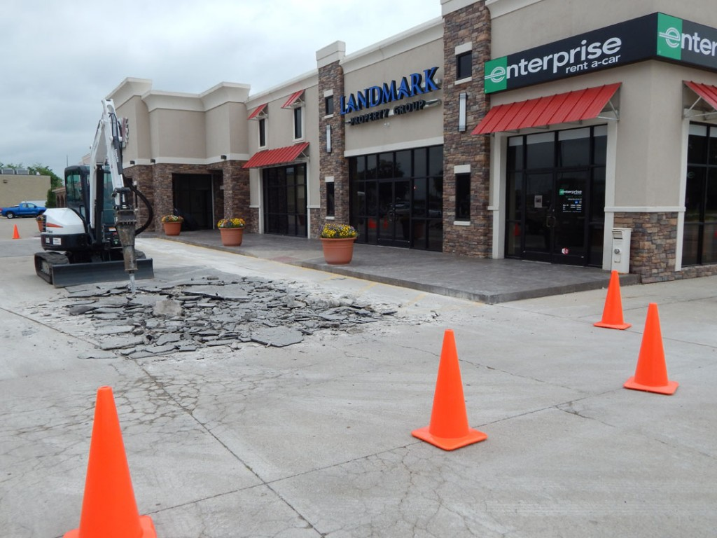 New Driveway at Landmark Crossing